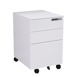Luoyang shuangbin 3 drawer metal mobile pedestal filing cabinet with digital locks