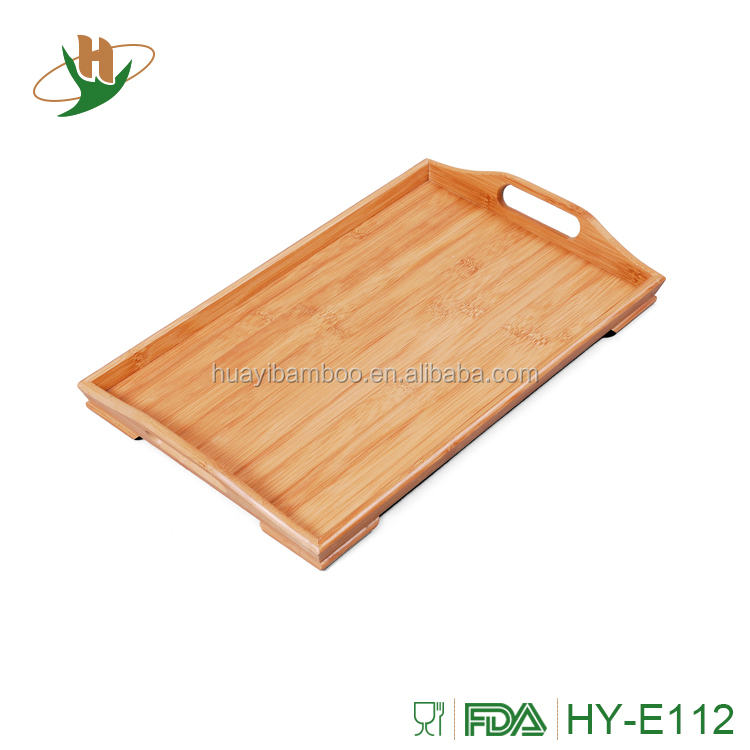 Custom bamboo wood lacquer serving tray with MDF board
