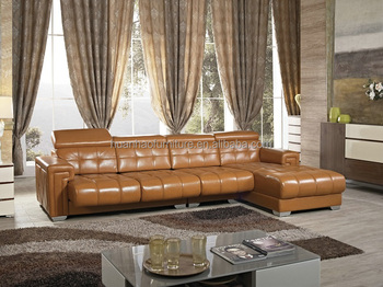 Import Living Room Furniture From China Luxury Leather Corner Sofa Sets S132 Set