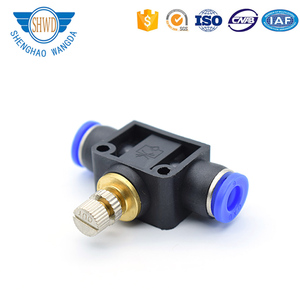 Factory Competitive Price Plastic SA Type Male/ Female Thread Plastic Pneumatic Tube Fitting Air Throttle Valve