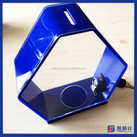 Yageli high clear acrylic cube ballot box money raising box with sign holder, upscale mini plastic acrylic charity donation box