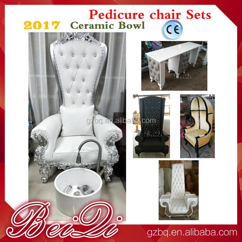 $50 OFF 2017 TOP ! ! high back cheap king throne chairs for manicure , white spa manicure pedicure chair