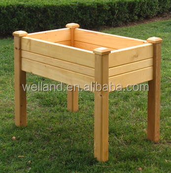 Elevated Garden Planting Tables, Raised Wooden Planters
