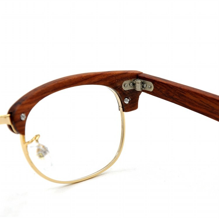 Vidrieras de bambú color clasificado marco gafas wayfarer ópticos ...