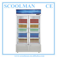 Upright Refrigerated Glass Shop Display Showcase