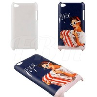 Cheap Heat transfer blank new case for iPod touch 4 sublimation cover cases for iPod touch 4 NO MOQ