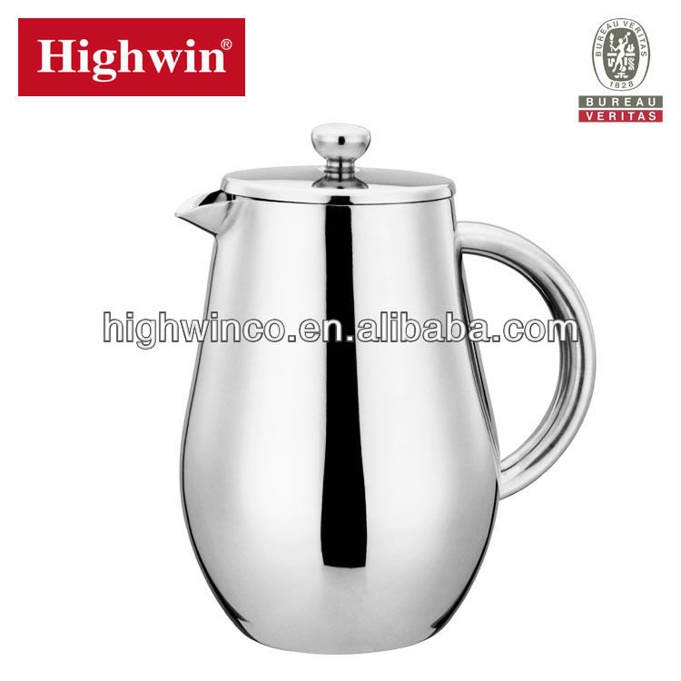 Double Wall stainless steel cafetiere expresso