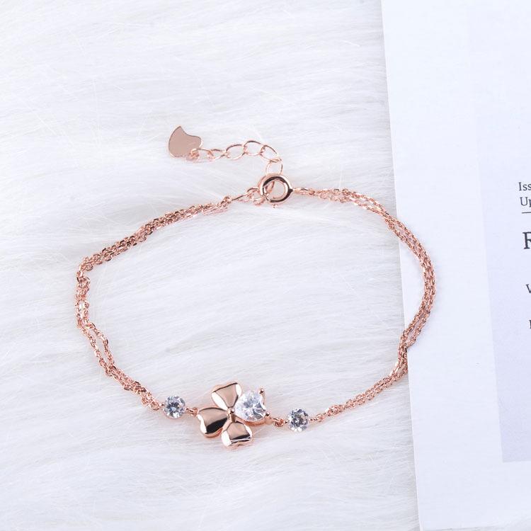 Four-leaf Clover New Model Simple Design 18k Gold Bracelet - Buy ...