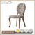 American French Country Solid Oak Wood Chairs Dining Room Furniture Luois Round Back Tufted Chairs