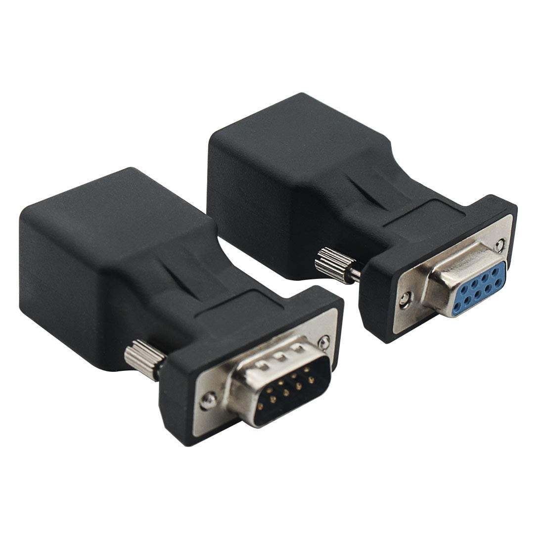 TOOGOO 1.4M RS232 DB9 9 Pin Male to VGA Video 15 Pin Male Adapter Cable Light Gray R