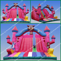 0.55mm pvc tarpaulin inflatable slip and slide/offer inflatable slides/inflatable water slide parts
