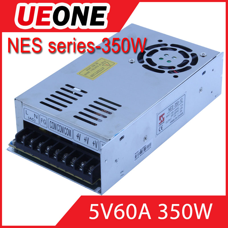 Hot sale 350w 5v 60a switching power supply CE factory price NES-350-5