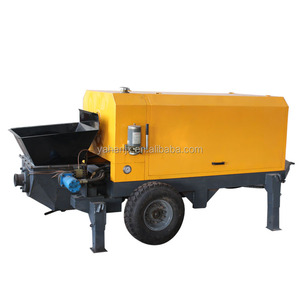 Mobile concrete pump diesel concrete pump Conventional trailer Professional Small Widely Used Concrete Pump