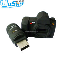 Hot selling promotion gifts 3d pvc rubber camera 64gb High-speed flash stick housing USB 2.0 camera usb flash drive