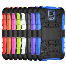Dual Layer Armor TPU and Rugged Shell Hybrid Kickstand Case Cover For Smsung Galaxy S5 i9600 Shock Proof For S5 G9600 case