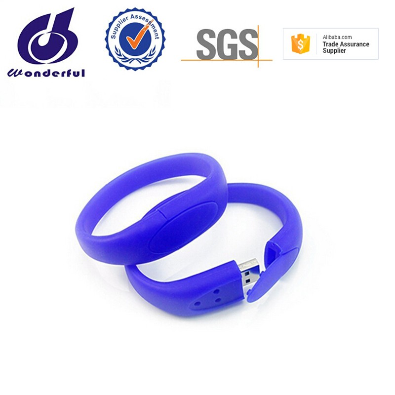Christmas gift silicone wrist band bulk 4gb usb flash drives