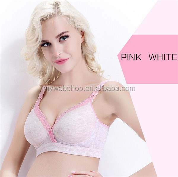 Adjustable Front Open Button Seamless Nursing bra Wireless Pregnant Maternity Bra