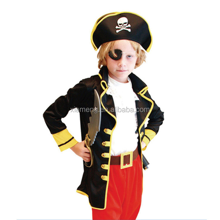 Fashion halloween cheap wholesale causal pirate costume for kids