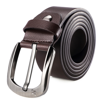 High Quality Guangzhou Casual Man Alloy Pin Buckle Belts New Style Popular Men Genuine Split Cow Leather Belt