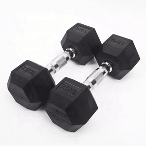 Wholesale gym sport custom iron steel grip weights hex rubber coated dumbbells set