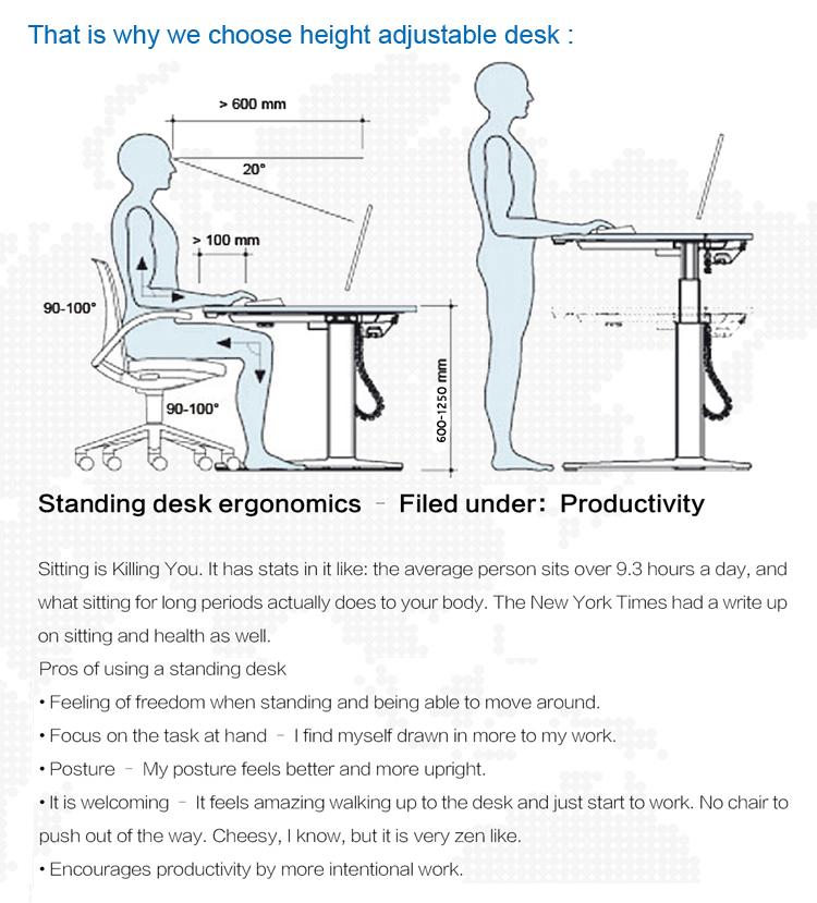 Desk Motorized Electric Adjustable Height Corner Desks