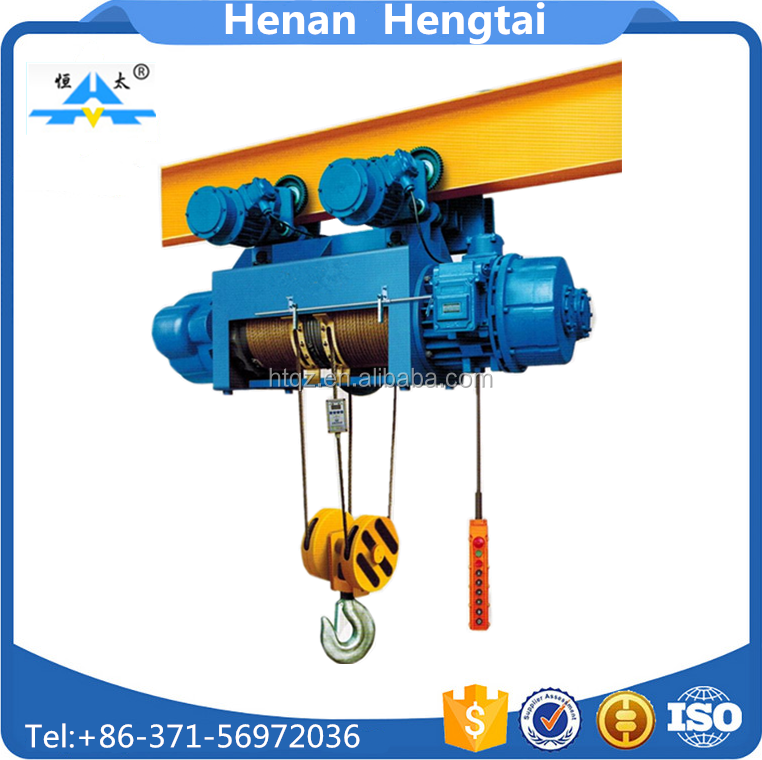 High speed 5 ton electri wire rope hoist with electric trolley