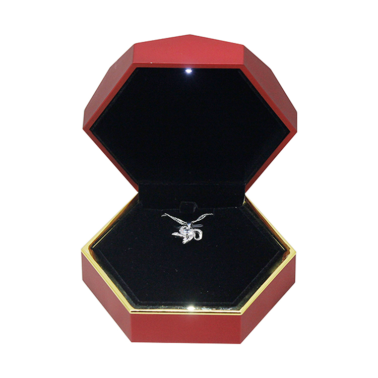 High quality factory handmade elegant  led light jewelry box