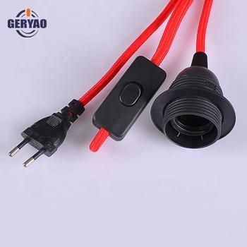 Câble Électrique Textile Tressé En Tissu Coloré Avec Prise,Interrupteur À Cordon,Douille E27 Buy Câble Électrique Textile Tressé En Tissu Avec