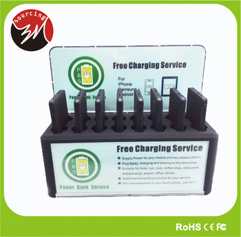 Universal 8pcs Bank Charger 5v 2a Li Polymer 4000mah Public Multiple Cell Phone Charging