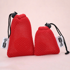 Small polyester nylon mesh bags drawstring pouch