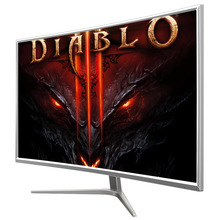 Multi inputs 2400R 32 inch curved led monitor for computer gaming