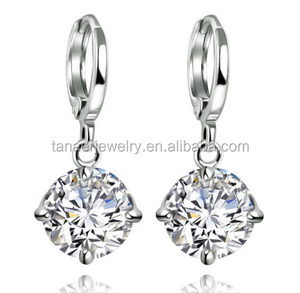 Newest Design Luxury classic 3K SONA diamond women ear studs