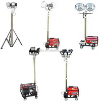industrial small portable hand push electric mobile generator vehicle-mounted light tower
