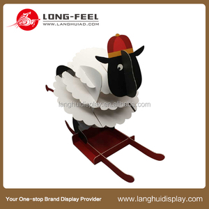 wonderful fashion 3D cardboard animal, home decoration 3D cardboard animal sheep