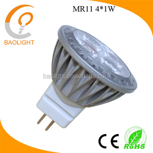4*1W mr11 gu4 led dimmable 220V spotlight 3W 3000K