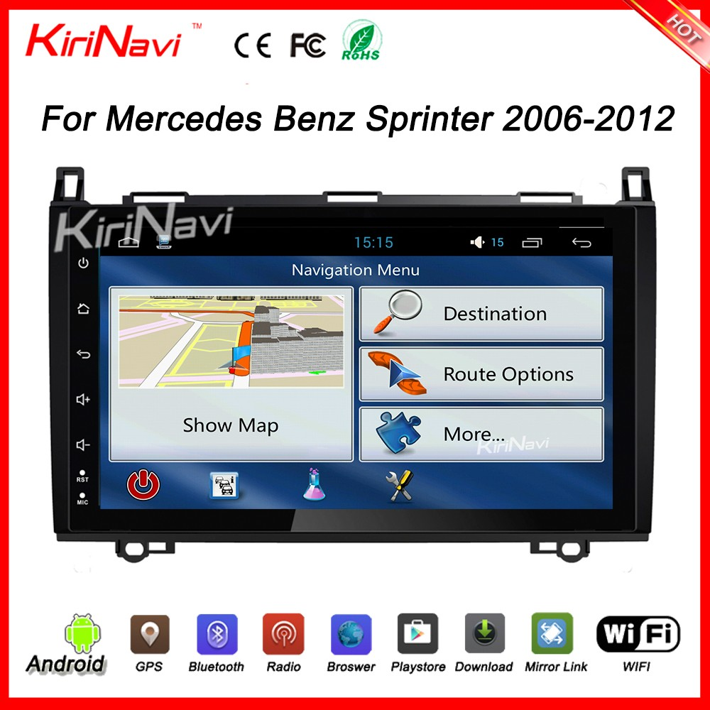 "Kirinavi oem WC-MB9682 9"" android 6.0 car audio for Mercedes Sprinter car radio 2006 - 2012 Dashboard Placement"