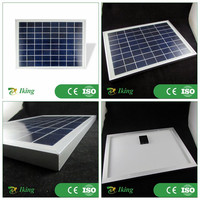 high quality 10W 18V poly solar panel kit price with aluminum alloy frame junction box