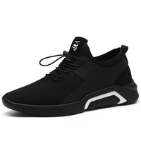 fitness breathable running black sneakers shoes