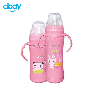 Keeping warm 240ml Stainless Steel Baby Feeding Bottle with Handles