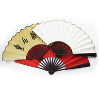 Chinese factory hand fan direct custom folding fans bamboo or silk material