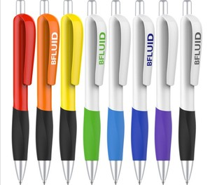 Promo wholesale customized 4 color promotional plastic ball pen