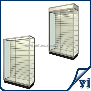 Wooden Glass Showcase /Display Cabinet Wood Showcase With Tempered Glass  And Led Lighting
