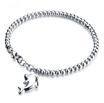 Factory direct wholesale opening bangle jewelry silver-plated dolphin bracelet fashion bracelet jewelry dolphin as welfare