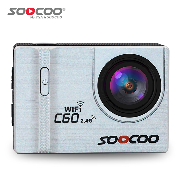 SOOCOO C60 4K UHD BUILT-IN GYRO WIFI WATERPROOF WITH RED LIGHT COMPENSATION FUNCTION MINI SPORTS HELMET VIDEO ACTION CAMCORDER