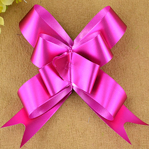 Plastic Butterfly Pull Bows Gift Ribbon For Decorate