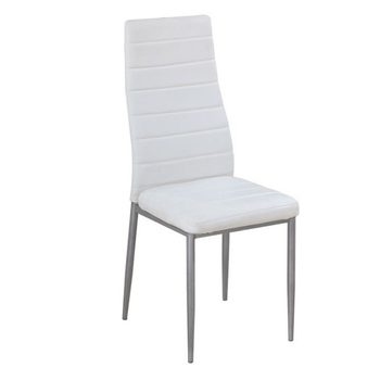 Wholesale modern padded chair cheap white leather dining room chairs for sale