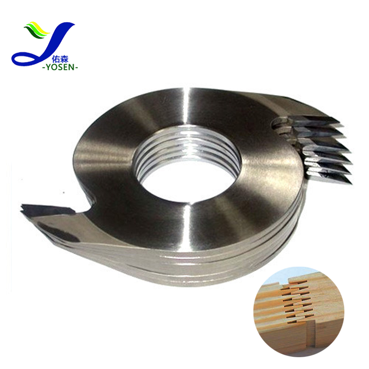 yuehong wood comb making machine parts tungsten carbide tips <strong>spiral</strong> finger joint <strong>cutter</strong>