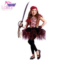 Directly factory sell custom children girls pirate costume fancy dress