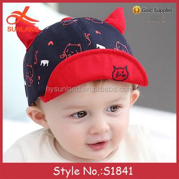 S1841 new trend baby crimping flat peaked caps flat bill baby hat wholesale  flip up brim 3f4e04466fb
