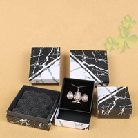 Marble packing necklace black box custom logo printed jewelry boxes